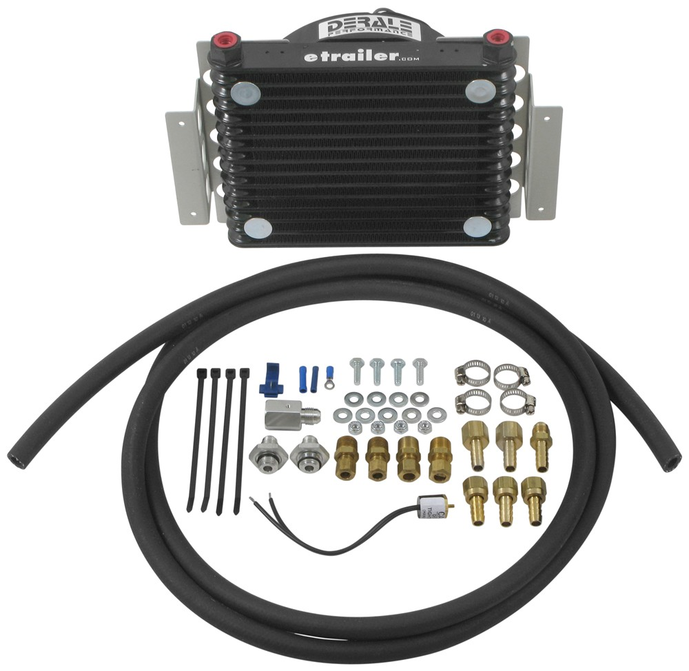 Transmission Coolers D13950 - 12-3/4W x 9-3/8T x 4-5/16D Inch - Derale