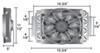 Transmission Coolers D15200 - 15-3/4W x 11-1/2T x 5D Inch - Derale
