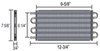 D15501 - With - 6 AN Inlets Derale Tube-Fin Cooler