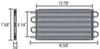 derale engine oil coolers tube-fin cooler d15502
