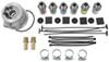 Derale Tube-Fin Engine Oil Cooler Kit w/ Adjustable Sandwich Adapter (Multiple Threads) - Class III W/ Sandwich Adapter D15505