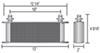 Derale 13W x 4-9/16T x 2D Inch Engine Oil Coolers - D15602