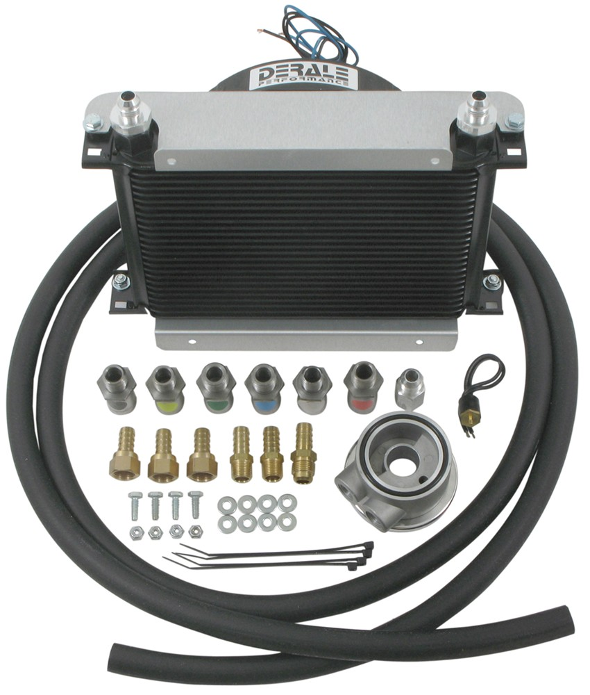[GJFJ_338]  Derale Hyper-Cool Remote Engine Cooler Kit w/ Fan, -8 AN Inlets - Class V  Derale Engine Oil Coolers D15660 | Derale Oil Cooler Wiring Diagram |  | etrailer.com