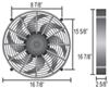 derale radiator fans electric 17 inch diameter d16217