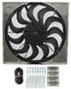 derale radiator fans 17 inch diameter high-output electric fan w/ aluminum shroud assembly - 2 400 cfm