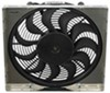 derale radiator fans electric 17 inch diameter high-output fan w/ aluminum shroud assembly - 2 400 cfm