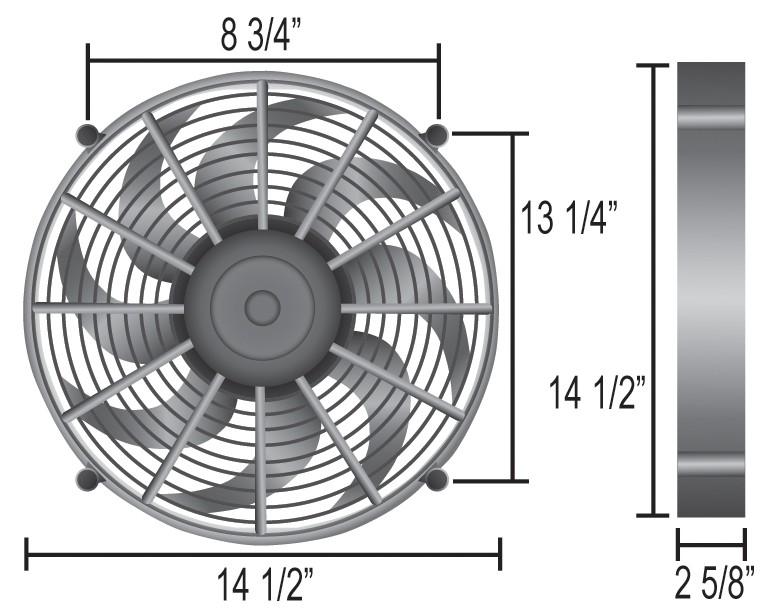 Derale 18214 14 High Output Radiator Fan