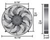 D18217 - High-Output Fan Derale Electric Fans