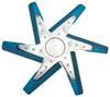 derale radiator fans 17 inch diameter standard rotation high-performance aluminum flex fan chrome and blue - belt driven 8 000 rpm