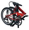 dahon folding bikes pedal bike 9 speeds speed d9 - aluminum frame 24 inch wheels red