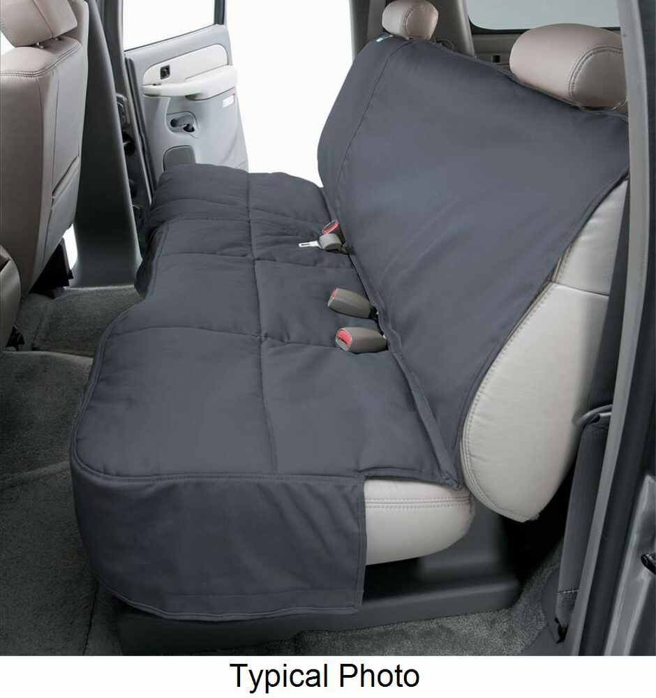 Canine Covers Custom-Fit Seat Protector for Rear Bench Seats - Gray Gray DCC4730GY