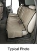 Canine Covers Econo Seat Protector for Rear Bench Seats with Headrests - Small High Back - Tan Cloth DE1011TN