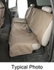 canine covers car seat  econo-plus protector - bench w/ headrests medium high back tan