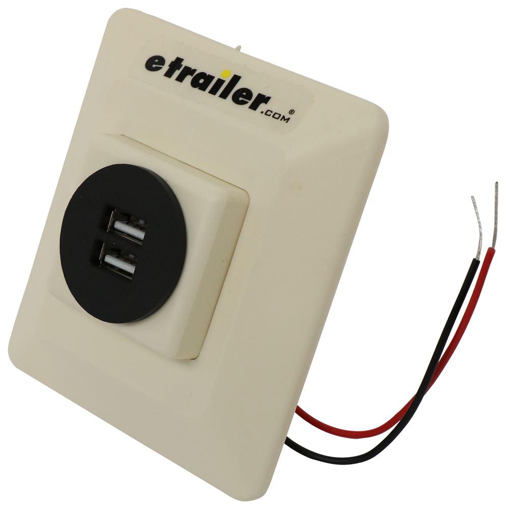 Charging Station for RVs - 2 USB Ports - Ivory 2 USB Outlets DG61032VP