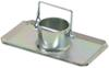 dutton-lainson accessories and parts  removable steel foot with pin for a-frame trailer jacks by
