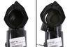 """Demco Slide-Lok Trailer Coupler - Adjustable Channel Mount - Black - 2-5/16"""" Ball - 12,500 lbs Pin-Style Fastener DM05557-81"""
