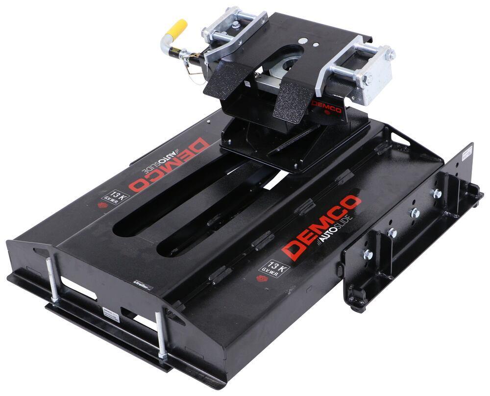 Demco Hijacker Autoslide 5th Wheel Trailer Hitch w/ Slider - Single Jaw - Above Bed - 13,000 lbs Premium - Single-Hook Jaw DM8550040