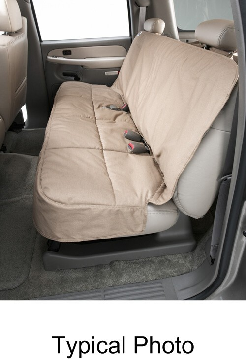 Canine Covers Semi-Custom Seat Protector for Rear Bench Seats with Headrests - Wet Sand Semi-Custom Fit DSC3012SA