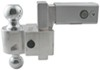 fastway trailer hitch ball mount adjustable drop - 4 inch rise 5 self-locking 2-ball stainless balls 2.5 drop/5