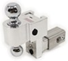 "Self-Locking, Adjustable 2-Ball Mount w Chrome Balls - 2.5"" Hitch - 4"" Drop, 5"" Rise Drop - 4 Inch,Rise - 5 Inch DTALBM6425"