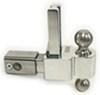"Self-Locking, Adjustable 2-Ball Mount, Stainless Balls - 2.5"" Hitch - 6"" Drop/7"" Rise Built-In Locks DTALBM6625-2S"