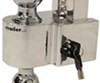fastway trailer hitch ball mount adjustable drop - 6 inch rise 7 self-locking 2-ball w chrome balls 2.5