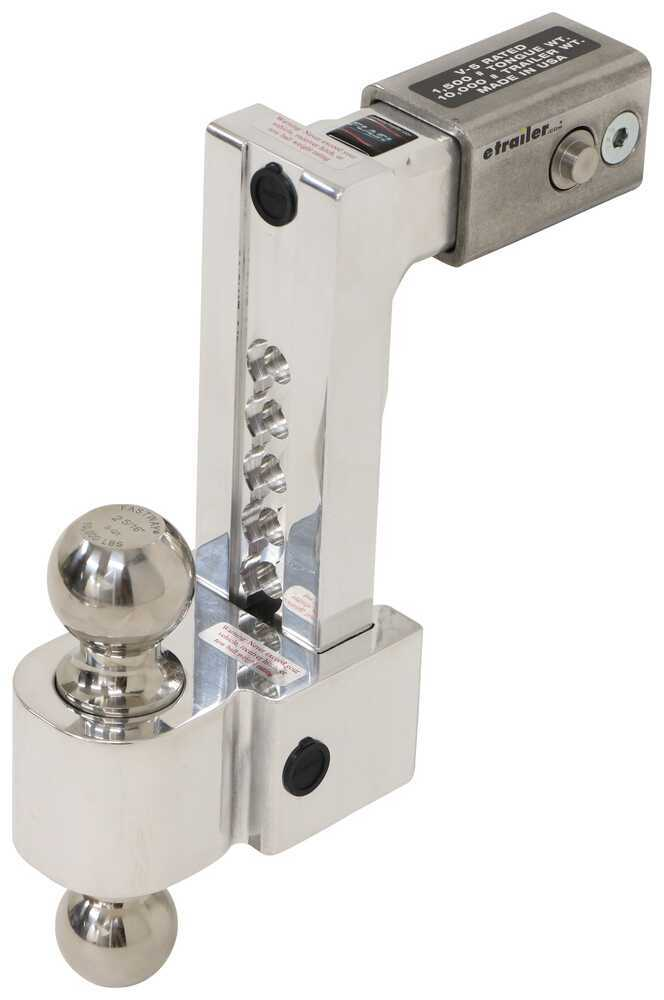 DTALBM6825-2S - Drop - 8 Inch,Rise - 9 Inch Fastway Trailer Hitch Ball Mount