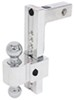 fastway trailer hitch ball mount two balls class iv 10000 lbs gtw dtalbm7000