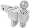 fastway trailer hitch ball mount two balls drop - 4 inch rise 5