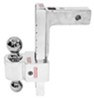 fastway trailer hitch ball mount adjustable two balls