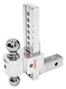 fastway trailer hitch ball mount adjustable two balls solid-tow 2-ball w chrome - 2 inch 10 drop 11 rise