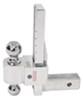 fastway trailer hitch ball mount adjustable drop - 10 inch rise 11 dtstbm7000
