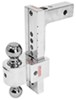 fastway trailer hitch ball mount adjustable drop - 10 inch rise 11 solid-tow 2-ball w chrome balls 2