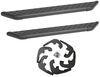 "DeeZee NXt Running Boards with Custom Installation Kit - 6"" Wide - Aluminum - Black Powder Coat Rectangle DZ16311-16340"