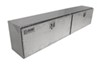 deezee truck tool box side rail large capacity specialty series bed - topsider style aluminum 16 cu ft silver