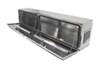 deezee truck tool box side rail 90 inch long specialty series bed - topsider style aluminum 16 cu ft silver