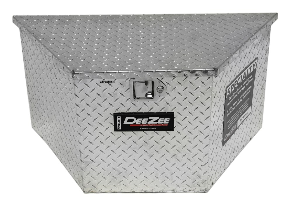 DeeZee Specialty Series Trailer Tongue Tool Box - A-Frame - Aluminum - 3.71 Cu Ft - Silver Small Capacity DZ91716