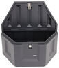 deezee trailer tool box a-frame medium capacity specialty series tongue - plastic 6 cu ft black