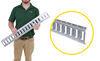 etrailer e-track rails horizontal - galvanized steel 2 000 lbs 3' long
