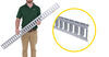 etrailer e-track rails horizontal - galvanized steel 2 000 lbs 5' long