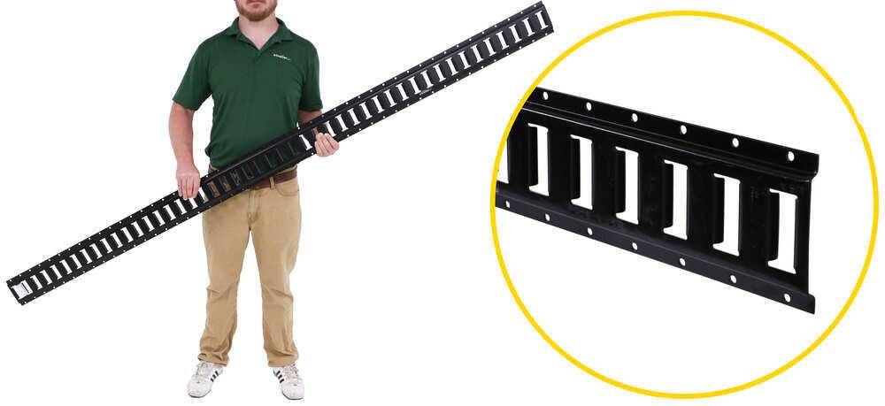 etrailer Horizontal E-Track - Black Powder Coated Steel - 2,000 lbs - 8' Long 8 Feet Long E52VR