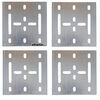 etrailer accessories and parts tie down anchors e-track backing plates w/ hardware - galvanized steel 6 inch long x wide qty 4