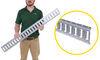etrailer e-track rails horizontal - galvanized steel 2 000 lbs 4' long