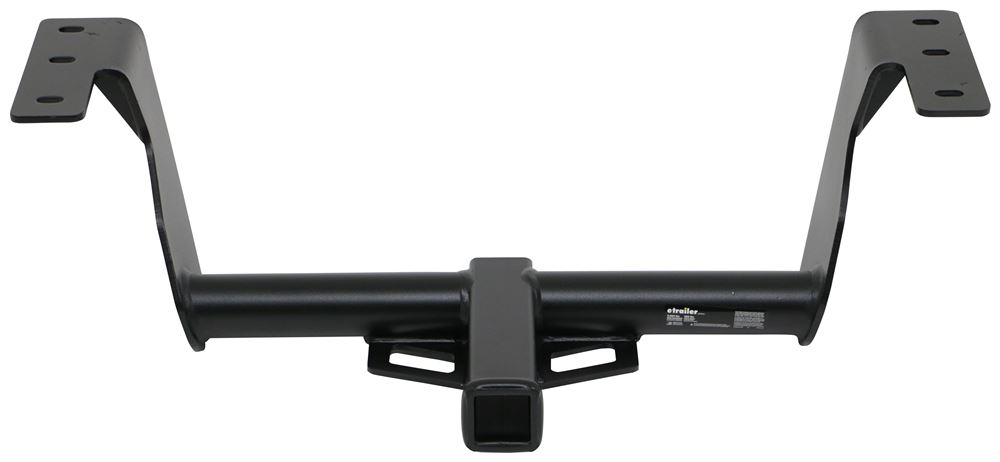 "etrailer Trailer Hitch Receiver - Custom Fit - Matte Black Finish - Class III - 2"" Visible Cross Tube E98839"