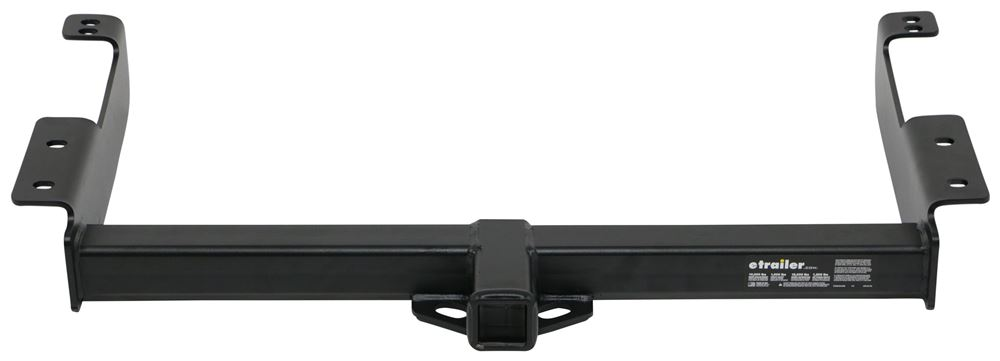 "etrailer Trailer Hitch Receiver - Custom Fit - Matte Black Finish - Class IV - 2"" Visible Cross Tube E98861"