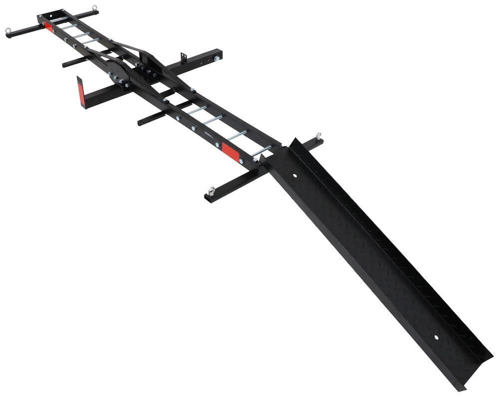 "etrailer Motorcycle Carrier w/ Ramp for 2"" Hitch - 76"" Long - Steel - 500 lbs Fits 2 Inch Hitch E98873"