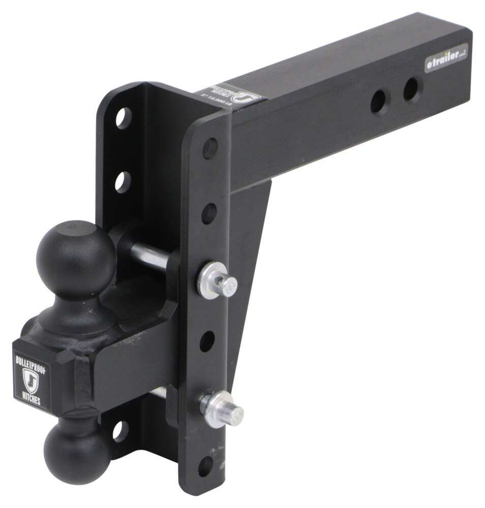 "BulletProof Hitches Adjustable 2-Ball Mount for 2-1/2"" Hitch - 6"" Drop/Rise - 36,000 lbs Drop - 6 Inch,Rise - 6 Inch ED256"