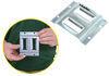 erickson e-track rails 2-slot horizontal - zinc plated steel 2 000 lbs 4 inch long qty 1