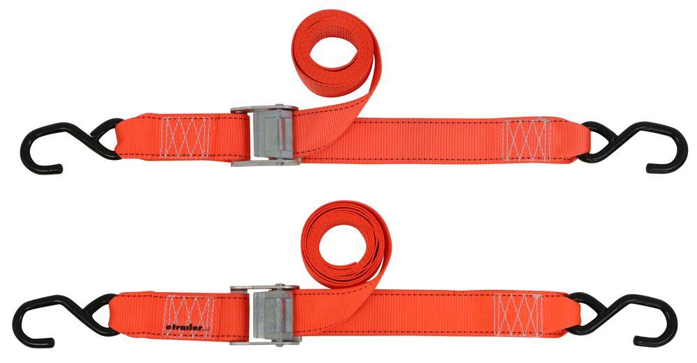 """Erickson Cam Buckle Tie-Down Straps w/ S-Hooks - 2"""" x 8' - 733 lbs - Qty 2 2 Straps EM34409"""