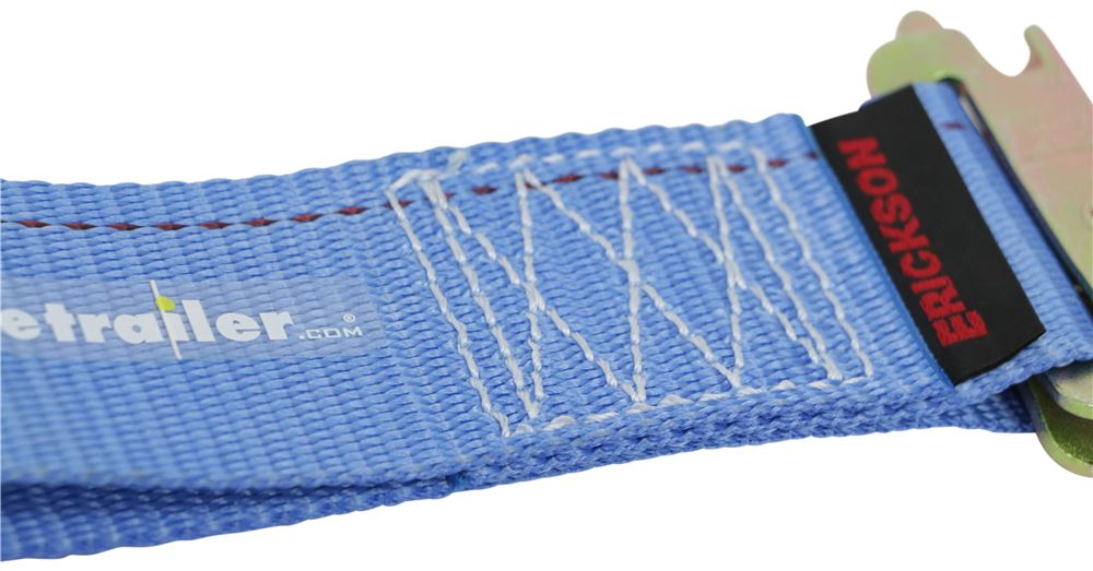 Erickson 59136 Blue 2-Inch x 12-Inch Ratcheting E-Track Logistic Strap